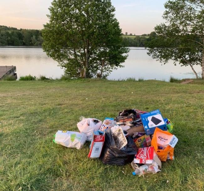 Just some of the rubbish left behind at Pickmere Lake last weekend