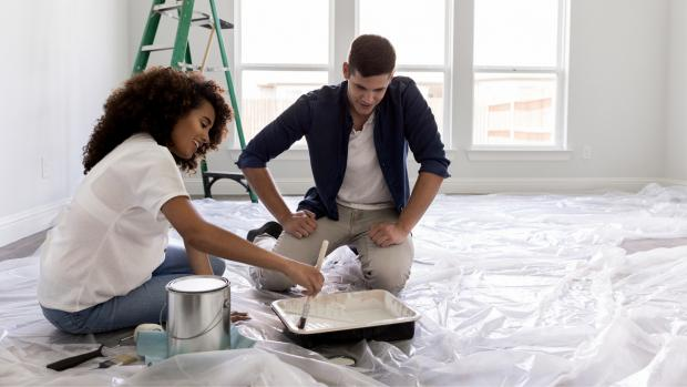 Northwich Guardian: Prepping your workspace with a drop cloth or plastic covering is a key part of the process. Credit: Getty Images / SDI Productions