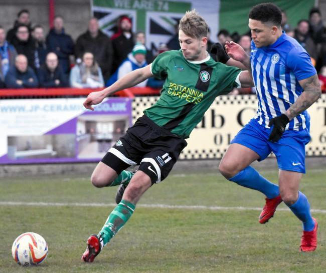 Ryan Jackson, who has returned to the 1874 Northwich scene after injury. Picture: Ian Dutton