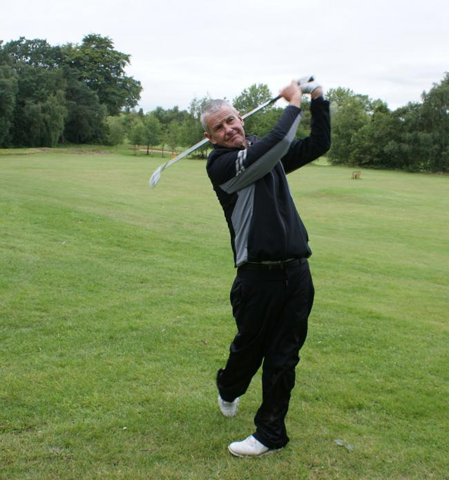 Former European Tour golfer Peter Barber takes to the fairway at Dunham Forest Golf Club