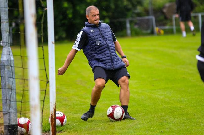 Carl Macauley, Witton Albion manager, during pre-season training. Picture: Karl Brooks Photography