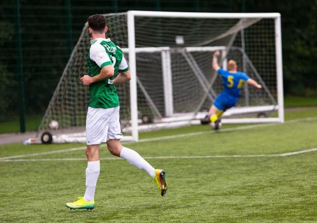 Action from Vics' 2-1 friendly win over Bolton Lads Club on Saturday. Pictures by Angela Buckley