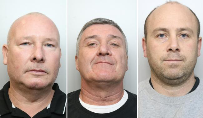 Vincent Ball, John Barlow and Thomas Mee were jailed today, Monday, at Chester Crown Court