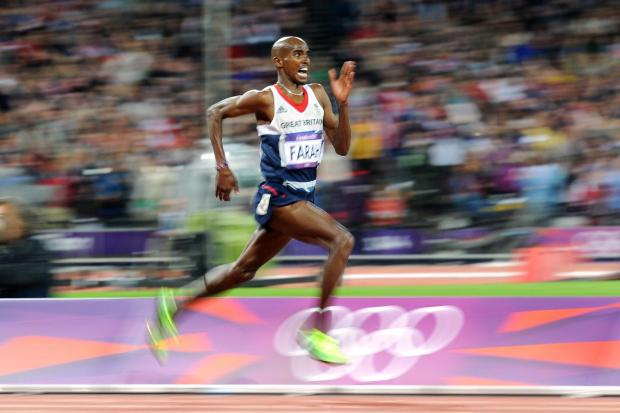 Mo Farah won gold in the 10,000m on Super Saturday at the 2012 London Olympics