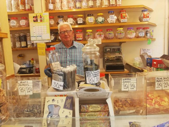 Geoff Parker, of Nosey Parkers sweet stall on Northwich Indoor Market says a fond farewell to Northwich this weekend.