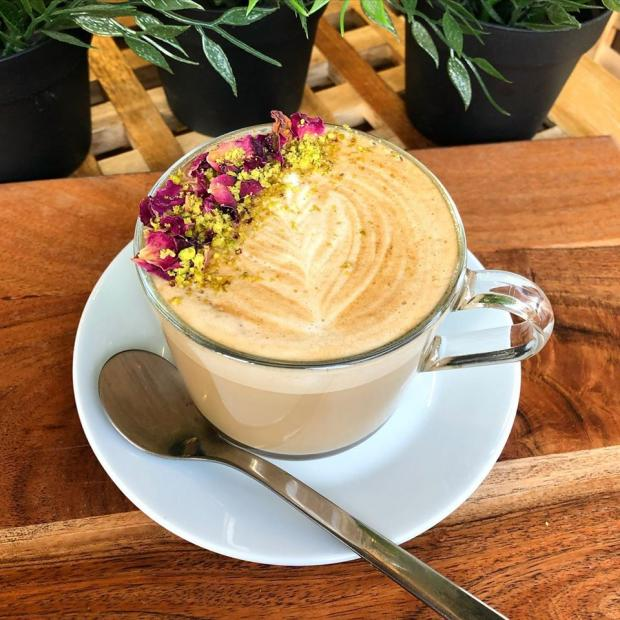 Northwich Guardian: One of Abda's speciality coffees - a Persian Love Latte.