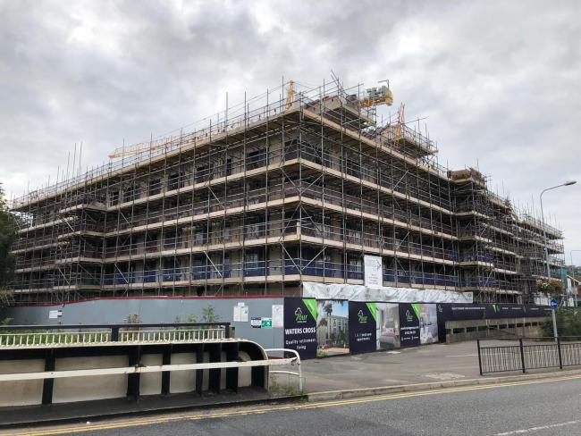 Building work is well under way for the Watling Street flats