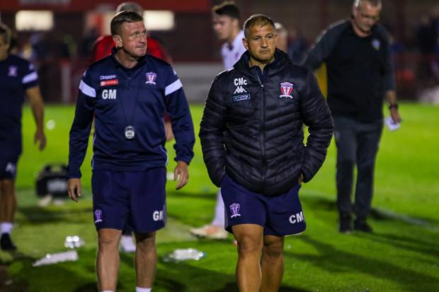 Witton Albion boss Carl Macauley, right, with assistant Gary Martindale. Picture by Karl Brooks Photography
