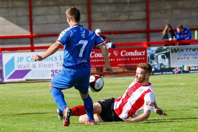 Action from Saturday's home defeat against Whitby Town. All pictures by Karl Brooks Photography