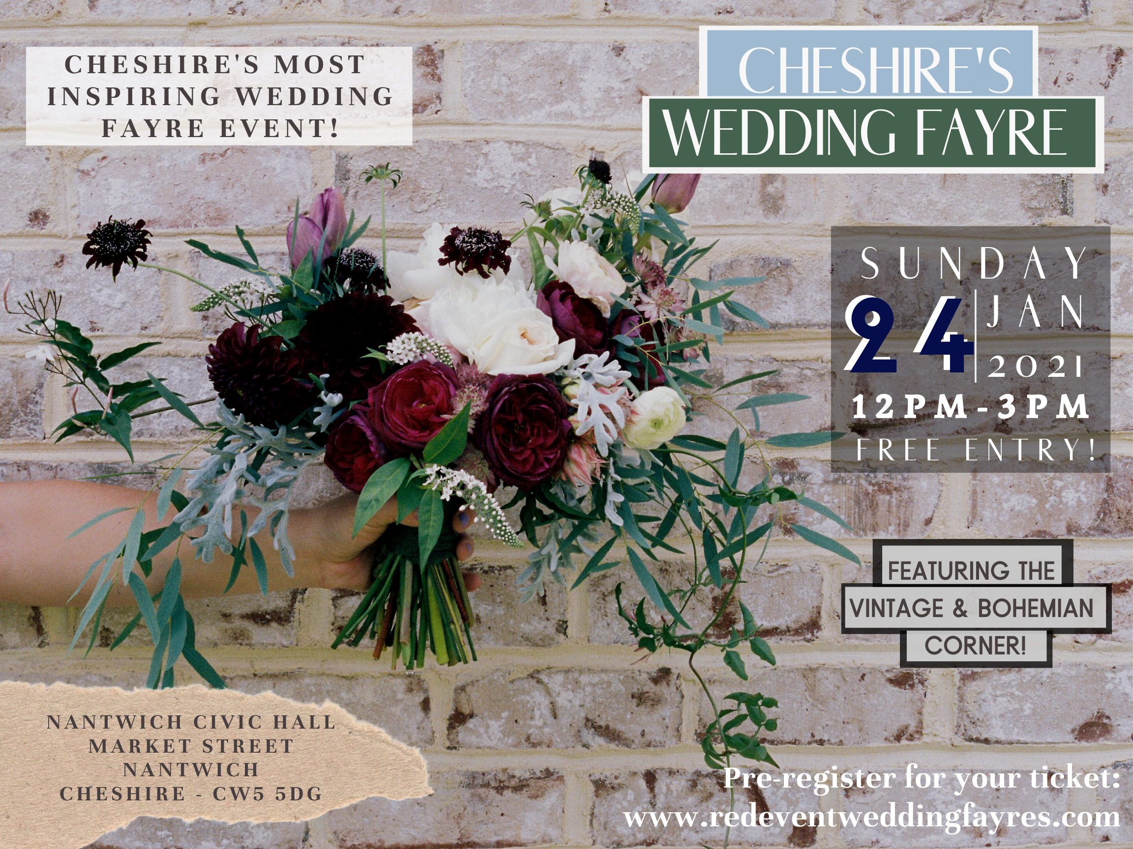 Cheshire's Wedding Fair featuring the Bohemian & Vintage Corner