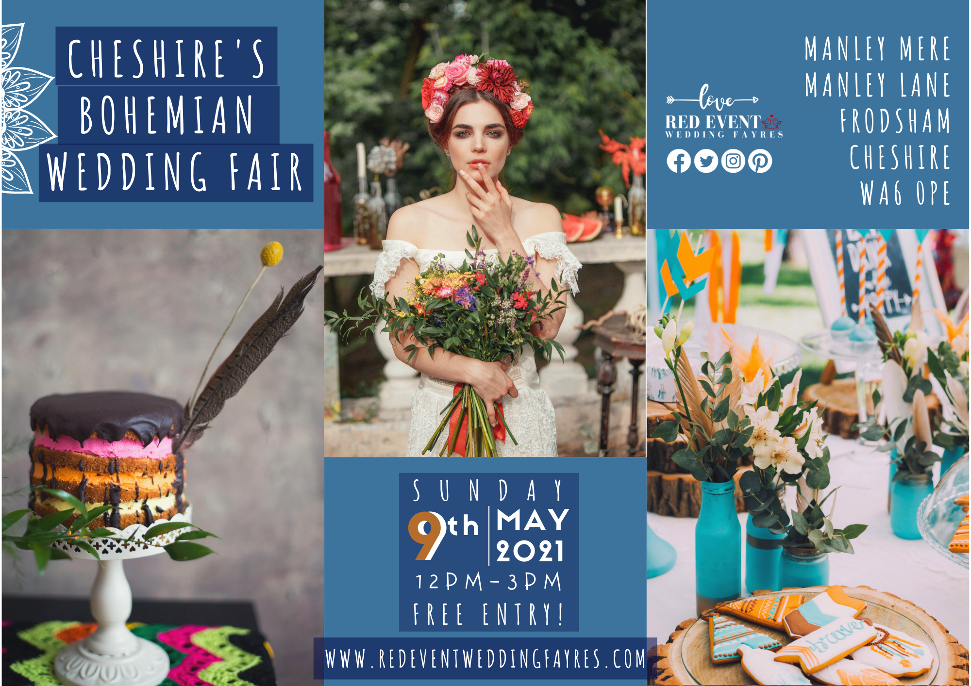 Cheshire's Bohemian Wedding Fayre at Manley Mere