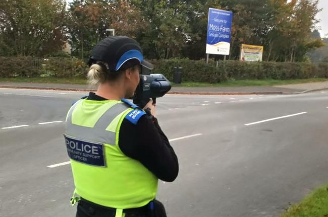 PCSOs have checked speeds on Firdale Road in recent weeks