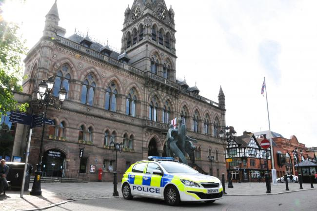 The case is being heard in the new 'Nightingale' court at Chester Town Hall