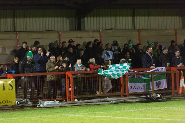 Northwich Victoria fans at last season's derby against 1874 Northwich. Picture by Angela Buckley