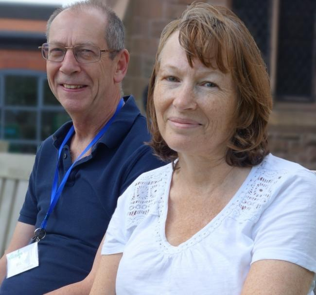 Volunteers Bill Landy and Rosemary Clare from Mid Cheshire Foodbank, which is helping more people than ever before cope with crisis Picture: John Malam