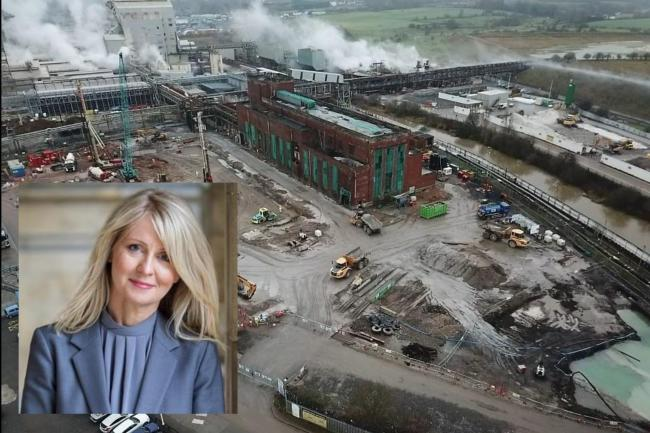 Esther McVey is firmly opposed to the plans for Lostock sustainable energy plant