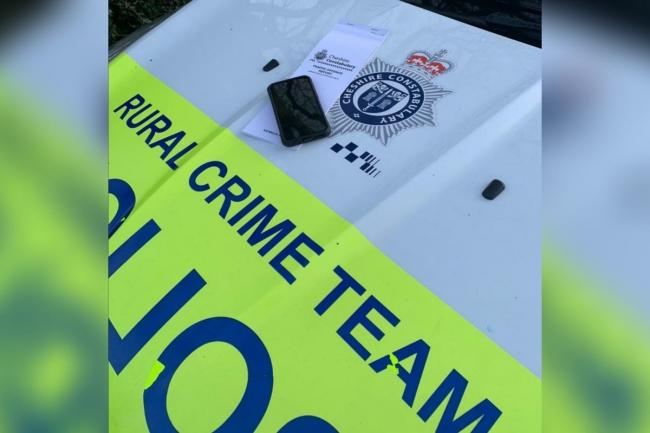 Driver stopped for using mobile phone was 'just picking a song'. Pic: Cheshire Police Rural Crime Team.