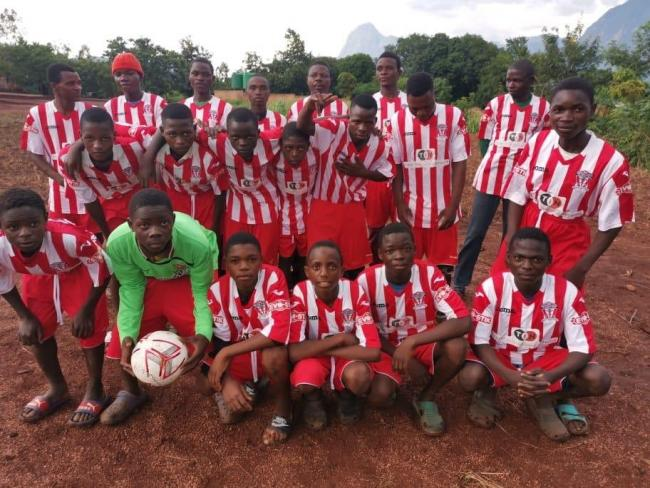 An old Witton Albion kit has been donated to a team in Malawi