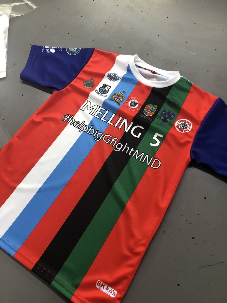The charity shirt that is on sale in aid of Georges fight against MND