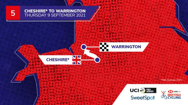 Stage 5 will start in south Cheshire and finish in Warrington