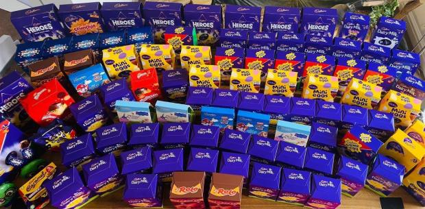 Northwich Guardian: The Nutrition at the Hangout community donated chocolate eggs to local charity, Northwich in Need, this Easter.
