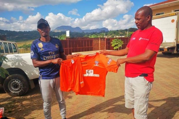 Witton Albion's old development squad kit lands in Blantyre, Malawi