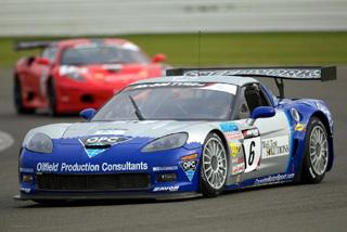 Speedworks Motorsport's Corvette Z06R in action at Silverstone last season. Picture: Tim Williams (Excel-R8.co.uk)