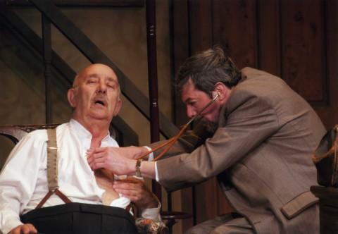 Feeling under the weather - Brian Tickle (Henry Hobson) and Nick Johnson (Dr MacFarlane)