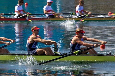 Northwich rower Matthew Langridge hopes to reserve a place in the Olympics final. Picture: Tim Williams (Excel-R8.co.uk)
