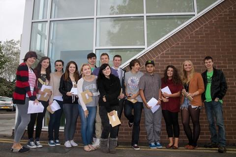 Students at St Nicholas Catholic High School celebrated after 28.7 per cent of grades were A*/A grades