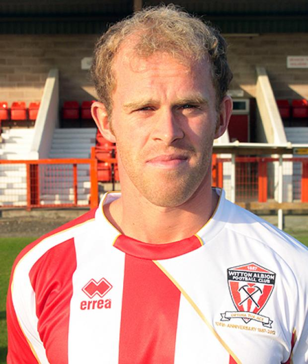 Witton Albion defender Paul Booth.