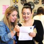 Northwich Guardian: 16-year-old Francesca Harrison collected her GCSE results with the support of big sister, Danielle (21).