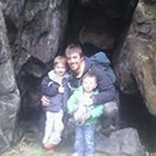 Ewen Beaton, who remains missing, pictured with his sons Jamie, aged two, and Ewen, aged five