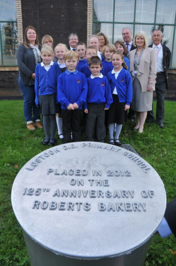 The time capsule is buried at Roberts Bakery.
