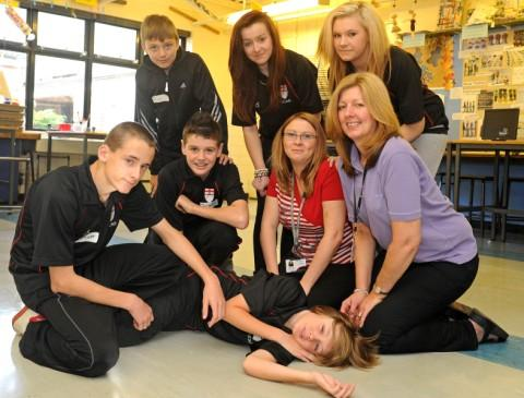 Pupils at UCAN take part in a day of activities including demonstrations by St John's Ambulance.