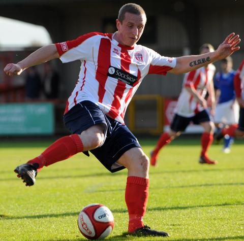Steve Foster was on target for Witton Albion against North Ferriby United.