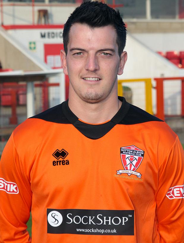 Witton Albion goalkeeper Matt Cooper.