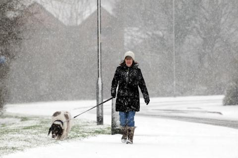 Snowy scenes in Northwich captured on camera
