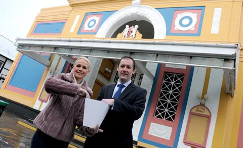 Gillian Edwards, from Northwich Cinema Trust, with Chris Smith, from Howard Worth accountants