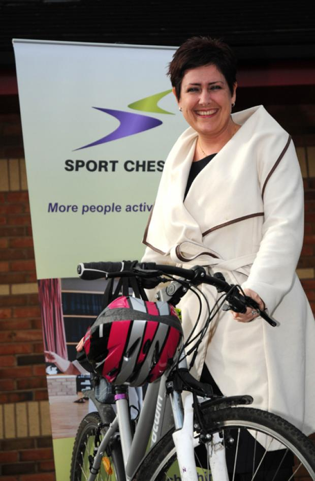 Anne Ibrahim, chief executive of Sport Cheshire is just starting her cycling journey and wants to overcome her fears to help others.