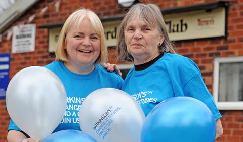April Astles, pictured with her mum, organised a Parkinson's Party.
