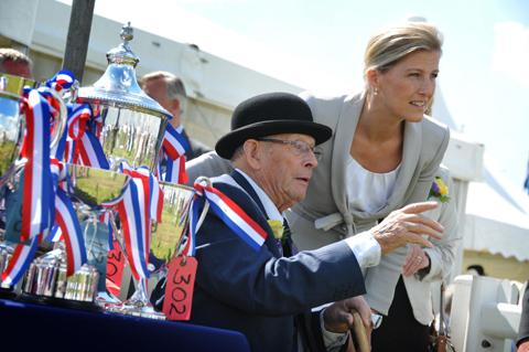John Platt talks to the Countess of Wessex at last year's Cheshire Show.