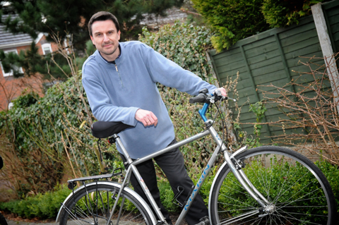 Gert-Jan Fien is determined to get back on his bike and hopes his story will help make things better.