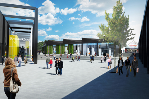 Northwich Guardian: A view of the proposed new food store.