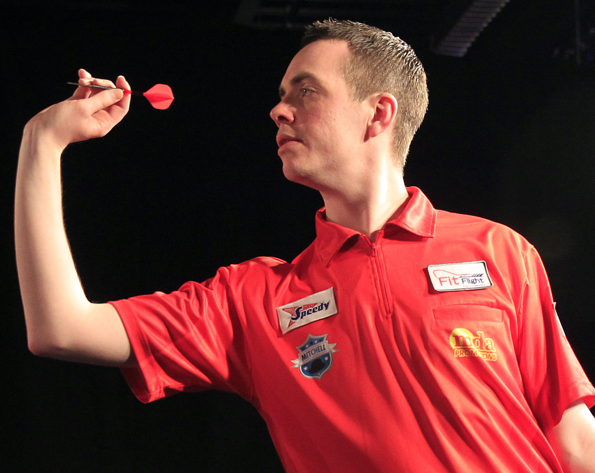 Stuart Kellett lost to Wes Newton in the Dutch Masters last 16 on Sunday. Picture: Lawrence Lustig/PDC
