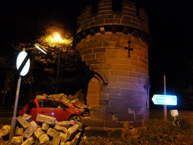 The Round Tower was demolished after a car crash in November last year.