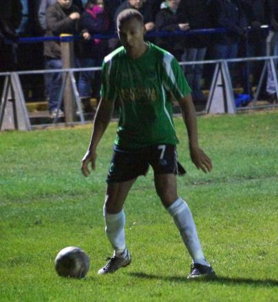 Daley Woods has made an impression since signing for 1874 Northwich. Picture: Annie Hilditch