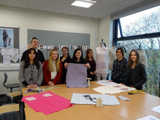 Fashion students, Jodie Phillips, Conner O'Brien, Maria Miltiadous, Courtney Tew, Annabel Balance and Amber Nicholson, Katie Lowerson and Valentine Bonnett.