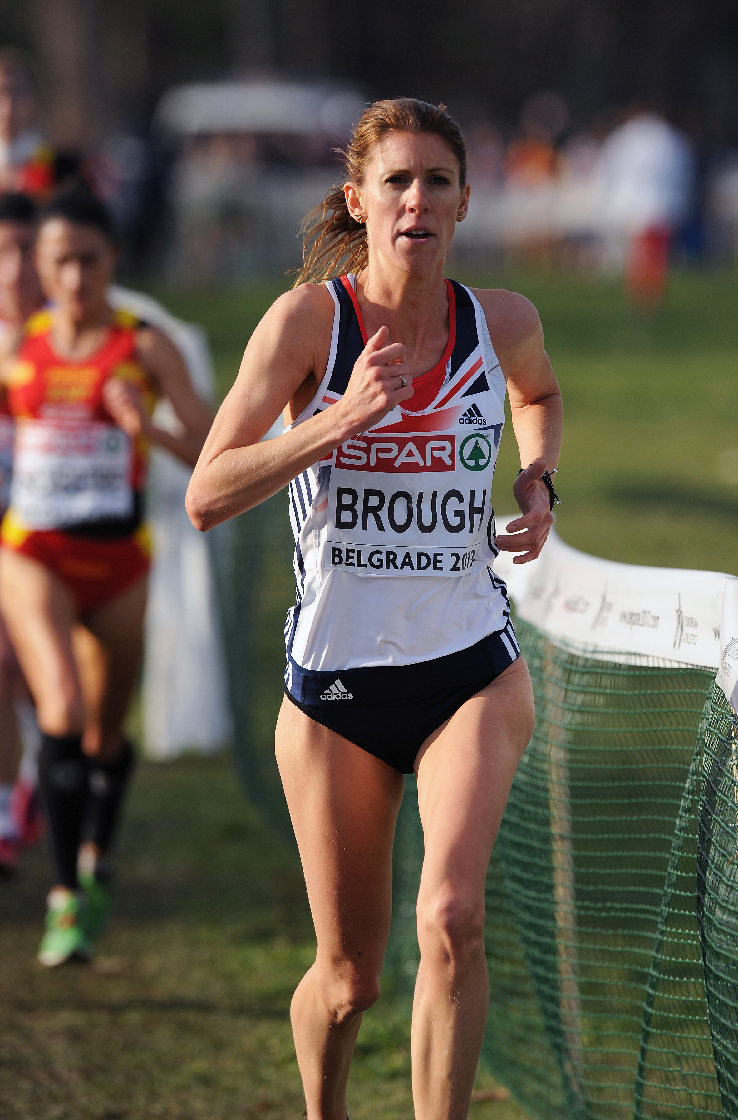 Katie Brough in action for GB in Belgrade. Picture: MARK SHEARMAN