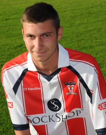 Ben Harrison was Witton Albion's outstanding performer at Frickley